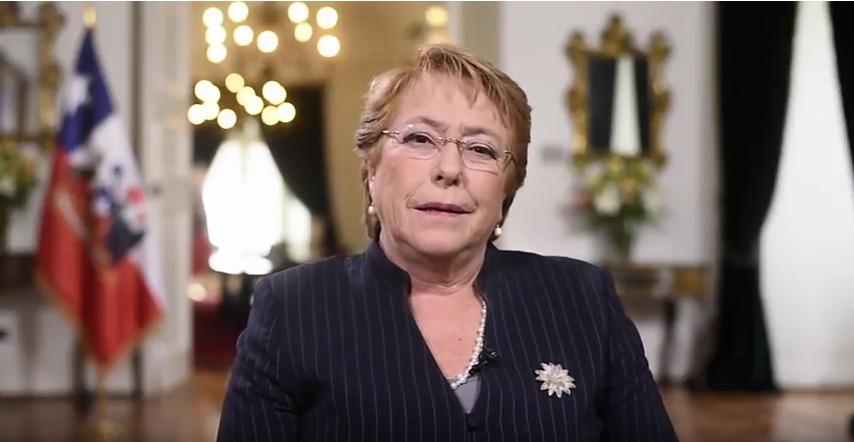 Saludos de parte de nuestra presidenta Michelle Bachelet